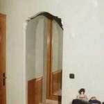 Arco de escayola, con pilastras y remates