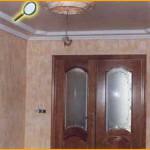 Entrada, realizada con una combinación de drapeados suaves, esfuminos y marmolizados.